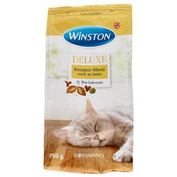 غذای خشک گربه وینستون طعم مرغ و پنیر