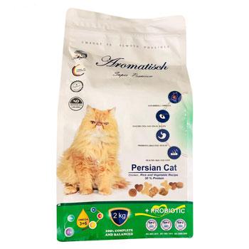 غذای خشک گربه اروماتیک پرشین ادالت باطعم مرغ و برنج 2 کیلویی