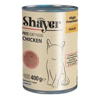 کنسرو گربه شایر مرغ 400 گرم