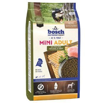 غذای خشک سگ بوش مدل Mini Adult با طعم مرغ و سبزیجات