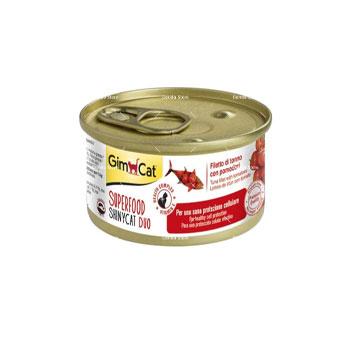 کنسرو گربه جیمکت طعم ماهی و گوجه فرنگی