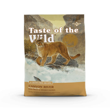 غذای خشک گربه taste of the wild canyon river 2/27kg