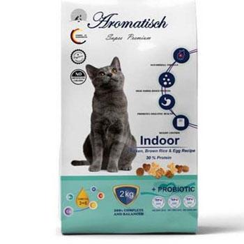 غذای خشک گربه بالغ آروماتیش مدل Indoor